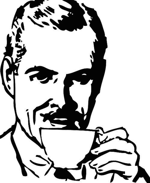 Drinking Eating Chocolate Man Gentleman Coffee Fla