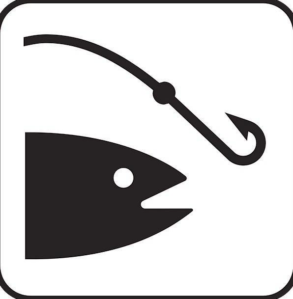 Fishing Drink Food Fishing-Rod Angling Sign Fish A