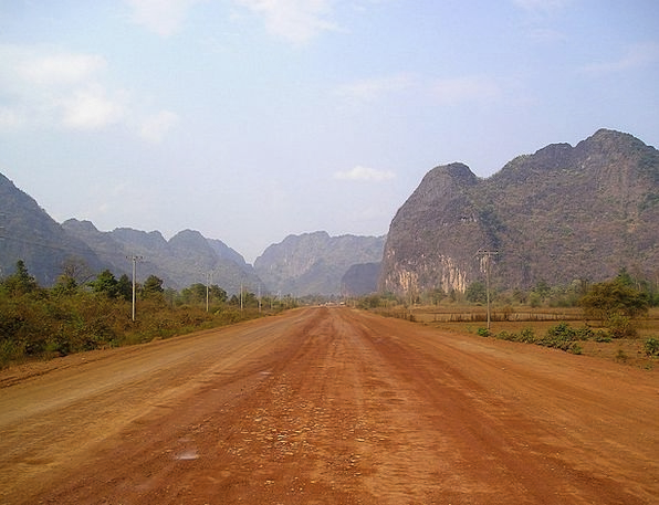 Laos Traffic Transportation Asia Southeast So Cons