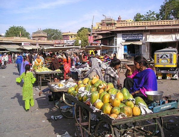 India Drink Ovary Food Market Marketplace Fruit Pa