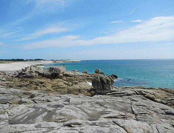 Brittany Pillar Coast Shore Rock Sea Marine