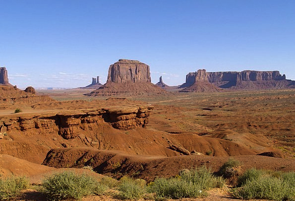Monument Valley Landscapes Nature Usa Utah Erosion