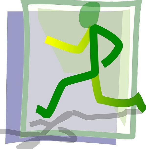 Runner Sprinter Sprint Dash Jogger Workout Man Gen