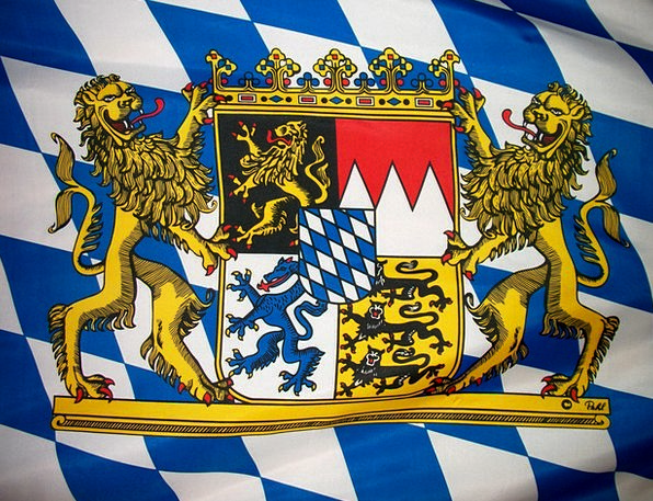 Bavarian Top Coat Of Arms Crest Emblem Symbol Flag