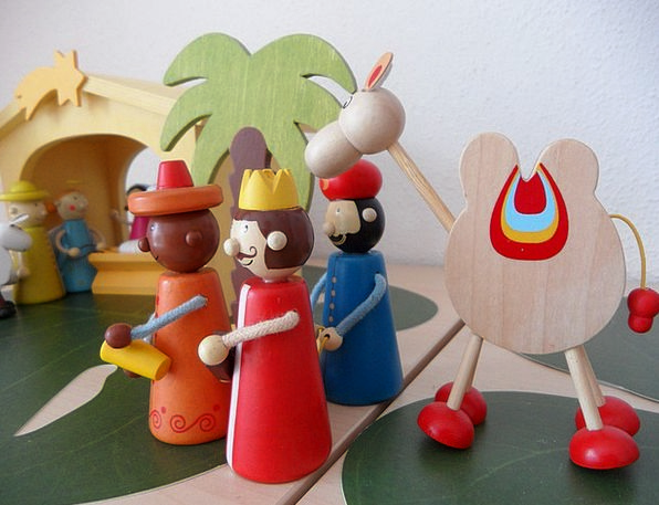 Holy Three Kings Cheat Fig Crib Santon Children Br