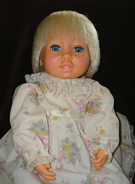 Doll Lassie Blond Fair-haired Girl Blue Eyes Freck