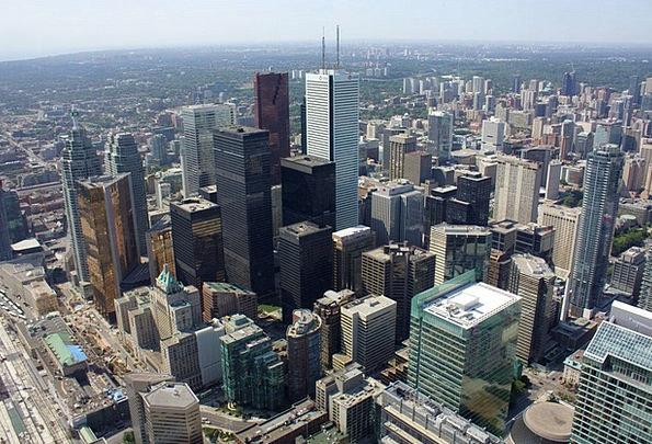 Toronto Buildings Architecture Skyline Horizon Can