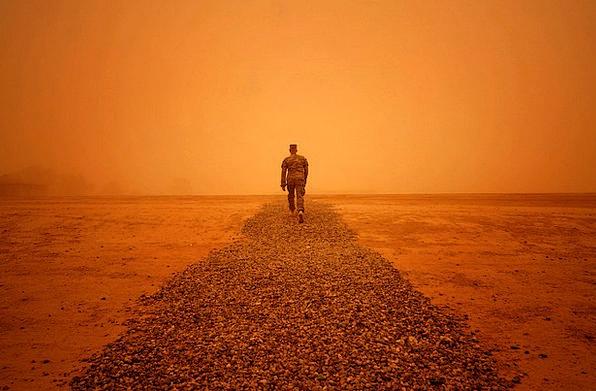 Iraq Weather Climate Sandstorm Wind Man Gentleman