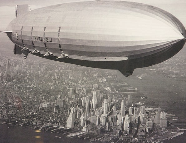 Zeppelin Airship Buildings Architecture Ny New Yor