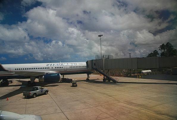 Airport Airfield Entrance Aircraft Gate Jet Flight