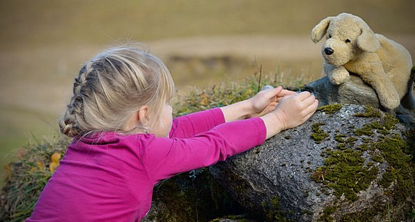 Child Youngster Countryside Girl Lassie Nature Blo