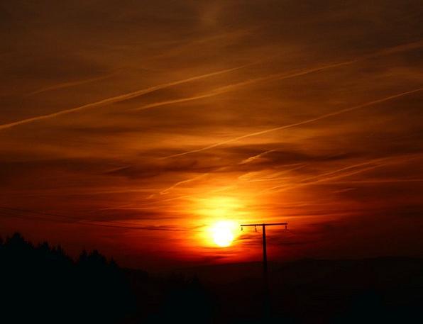 Sunset Sundown Vacation Travel Evening Twilight Se