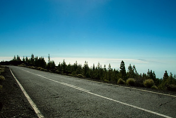 Highway Thoroughfare Landscapes Scenery Nature Ten