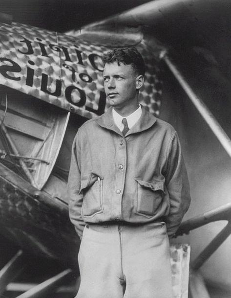 Charles Lindbergh Author Writer American Aviator F