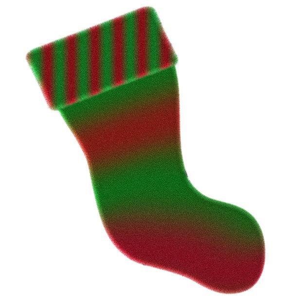 Sock Hit Interesting Christmas Colorful Deco Cloth