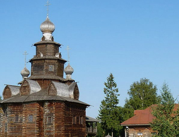 Wooden Church Ecclesiastical Russia Church Believe