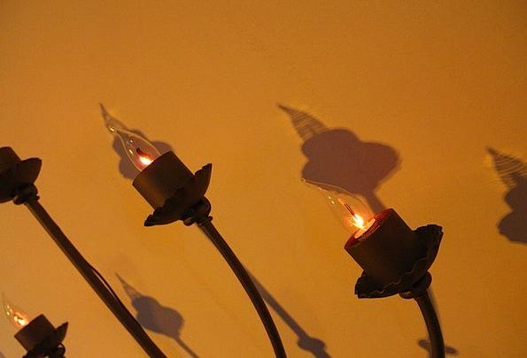 Light Bright Uplighter Candleholder Candelabrum La