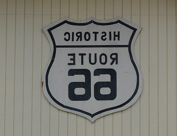 Route 66 Traffic Protection Transportation Plaque