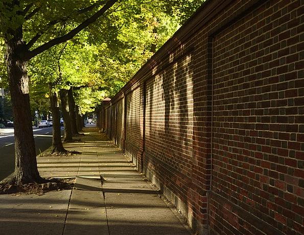 Brick Wall Traffic Road Transportation Sidewalk Pa