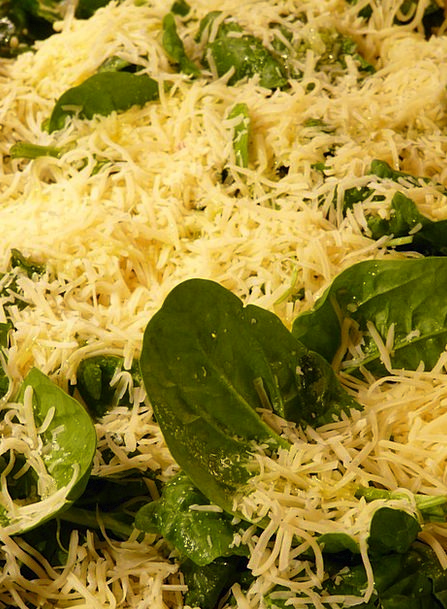 Cheese Drink Food Topping Coating Spinach Eat Gaud