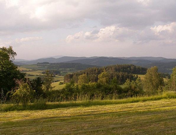 Landscape At Malenice Over Voly?kou Czech Republic