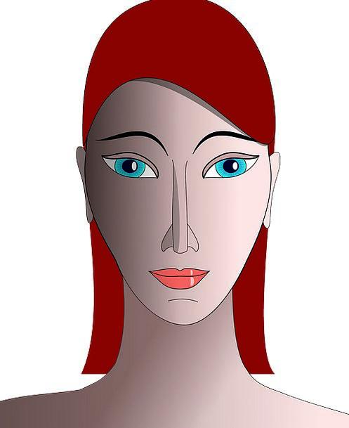 Womans Head Representation Adult Mature Portrait W