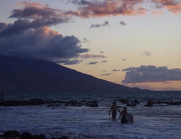 Dawn Beginning Vacation Travel Hawaii Maui Surfer