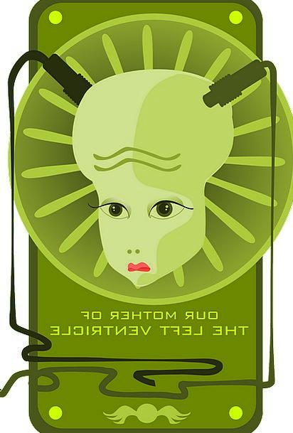 Green Lime Feminine Alien Unfamiliar Female Wires