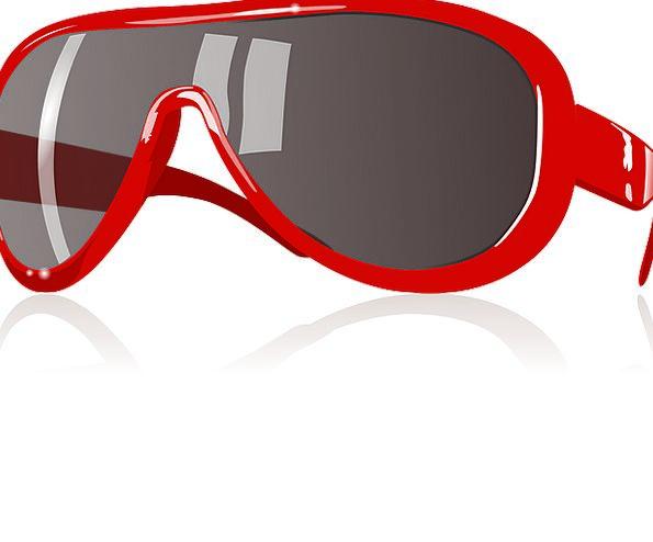Red Bloodshot Eyewear Sunglass Accessory Protectiv