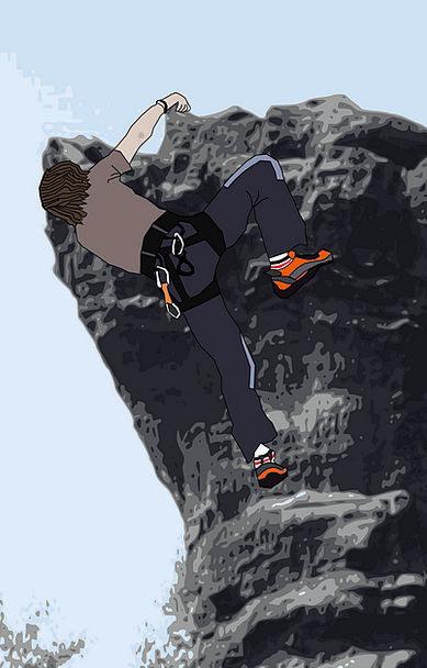 Rock Climbing Mountaineering Landscapes Hiker Natu