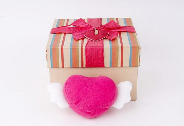 Present Current Box Container Hart Gift Talent Val