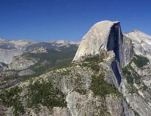 Half Dome Landscapes Nature Valley Vale Yosemite S
