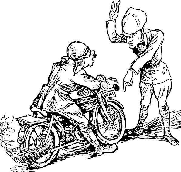 Motorcycle Vacation Travel Stop Halt Motorcyclist