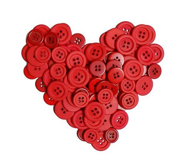 Buttons Keys Bloodshot Hearts Emotions Red Designs