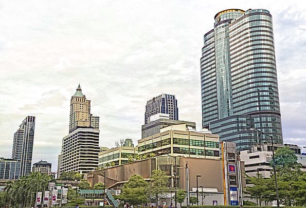 Central World Plaza Buildings Architecture Thailan