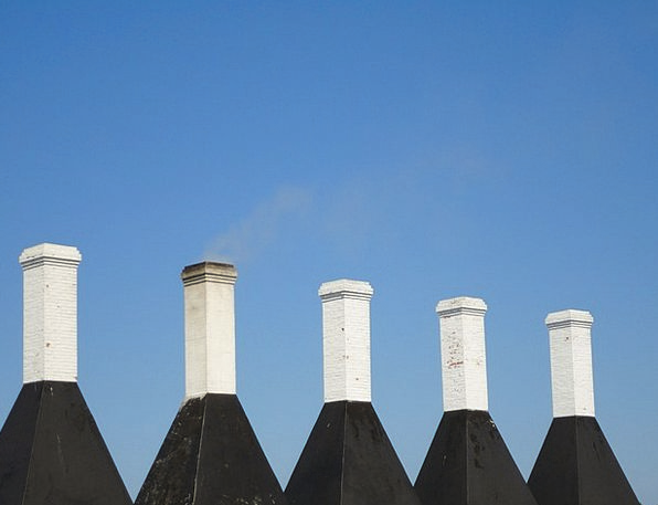 Chimneys Funnels Cottage Hut The Roof Of The