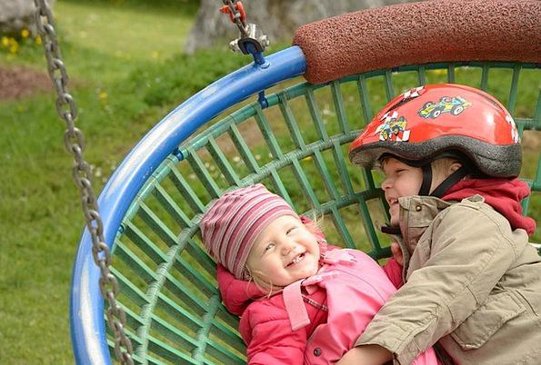 Children Broods Swipe Play Production Swing Slush