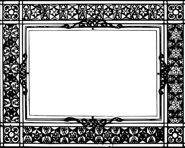 Picture Frame Glass Celtic Mirror Drawing Empty Un
