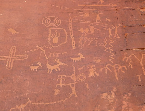 Rock Painting Valley Of Fire Rock Carving Anasazi