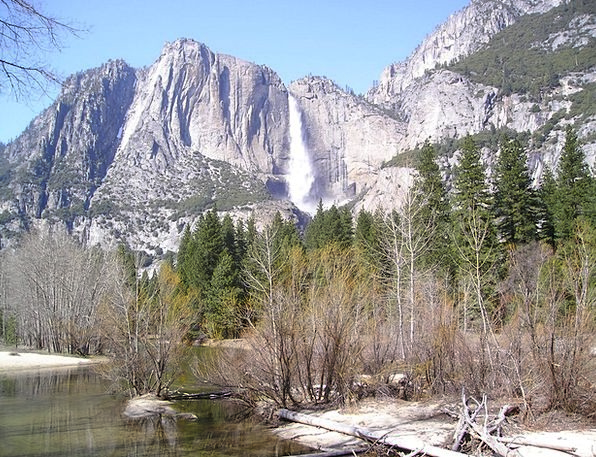 Usa Landscapes Nature National Park Yosemite Waser