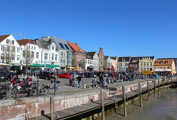 Husum Buildings Harbor Architecture City Urban Por