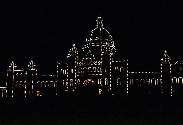 Parliament Building Night Nightly Victoria City Li