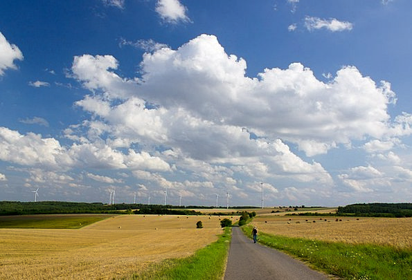 Field Arena Landscapes Countryside Nature Clouds V