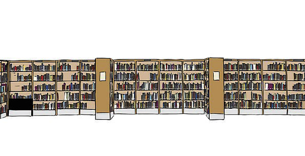 Library Public library Records Bookcases Books Fre