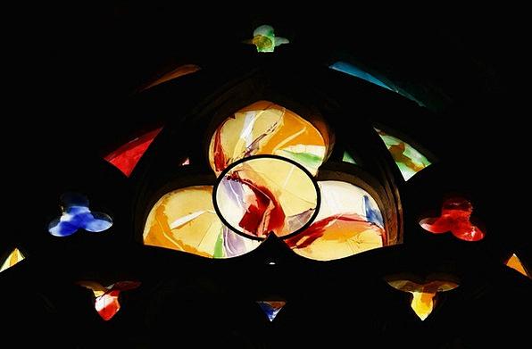 Church Window Cathedral Church Liege God Trinity t