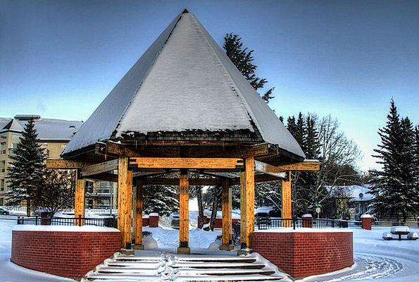 Canada Landscapes Rotunda Nature Sky Blue Pavilion