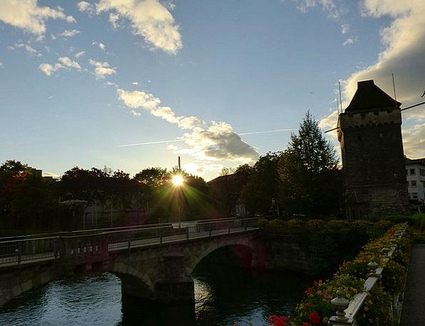 Esslingen Vacation Sundown Travel Sky Blue Sunset