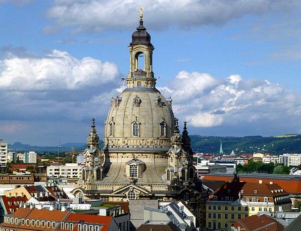 Frauenkirche Church Ecclesiastical Dresden City Ar