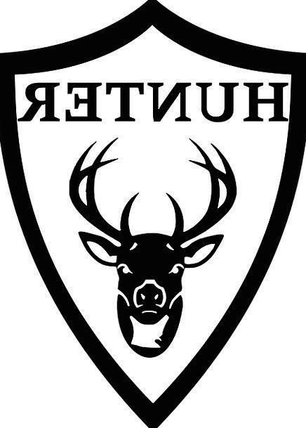 Hunter Predator Skull Emblem Symbol Head Badge Ins