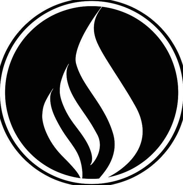 Fire Passion Blaze Black Dark Flame Circle Ring Logo Symbol